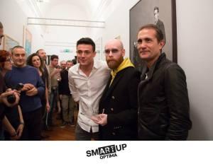 Lamberto Teotino, tra Alessio Matrone (AD Optima) e Danilo Caruso (Presidente)