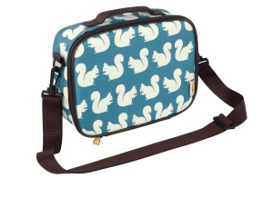 kissing squirrel lunch bag