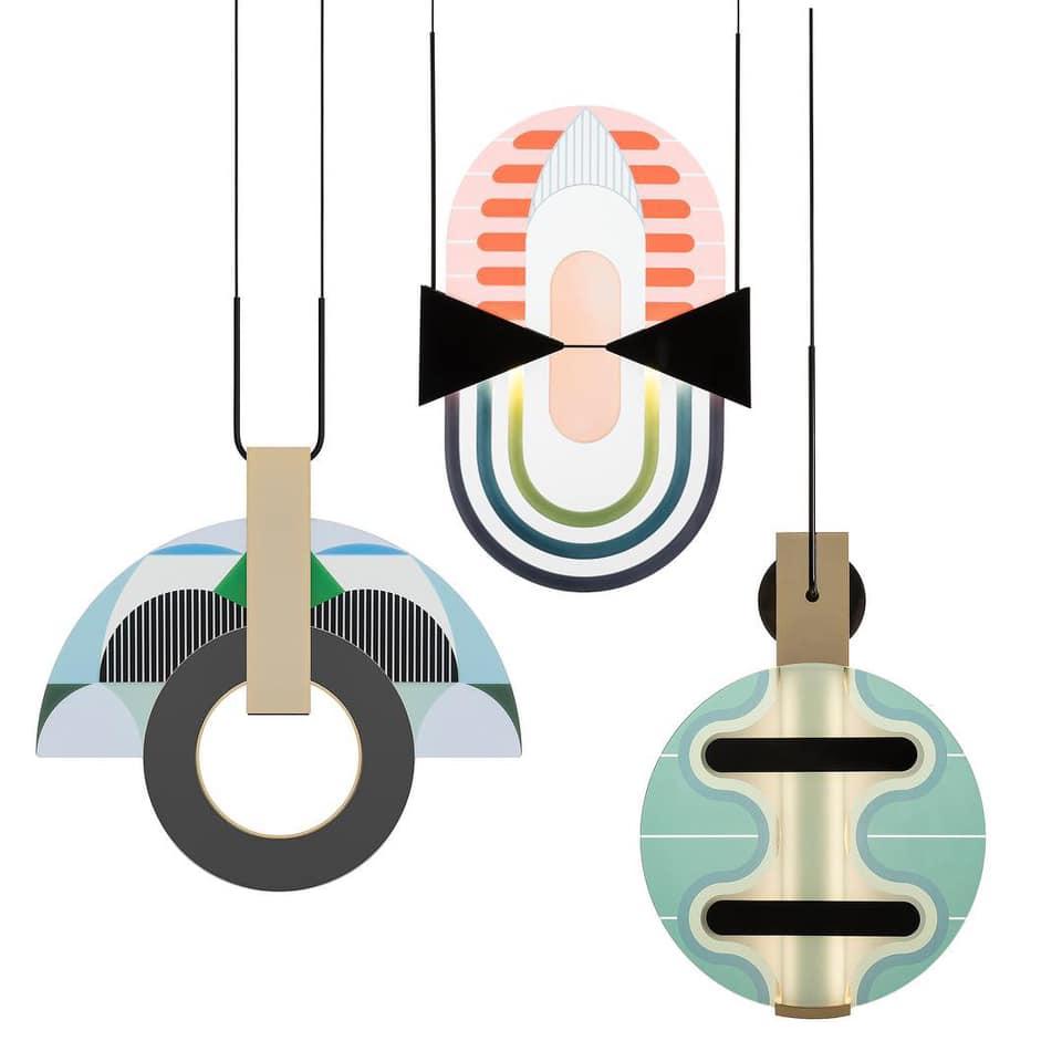Lampade della collezione Miami di Elena Salmistraro per Torremato
