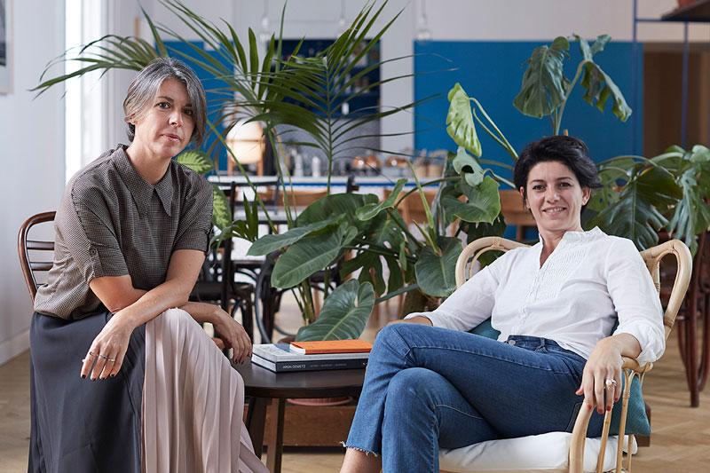 Domitilla Dardi ed Emilia Petruccelli, ideatrici di edit Napoli